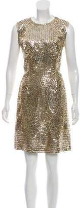 Kaufman Franco KAUFMANFRANCO Sequin Mini Dress