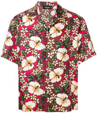 DSQUARED2 Hawaiian floral print shirt