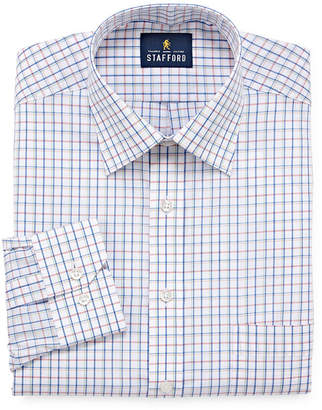 STAFFORD Stafford Travel Easy-Care Broadcloth Mens Spread Collar Long Sleeve Wrinkle Free Dress Shirt