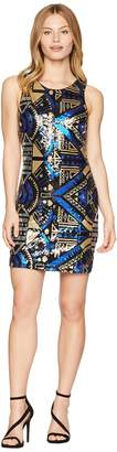Romeo & Juliet Couture Abstract Pattern Sequin Dress Women's Dress