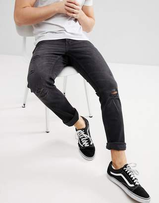 ONLY & SONS Skinny Jeans With Distressing Details