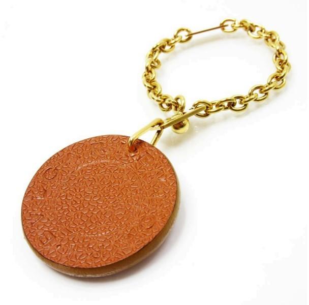 Bvlgari Bulgari Brown Leather Charm