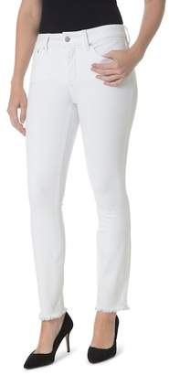 NYDJ Sheri High Waist Frayed Hem Stretch Slim Ankle Jeans (Regular & Petite)