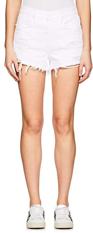 Denim x Alexander Wang Women's Bite Distressed Denim Cutoff Shorts