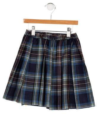 Papo d'Anjo Girls' Plaid Wrap Skirt