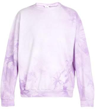 Audrey Louise Reynolds - Tie Dye Cotton Sweatshirt - Mens - Purple