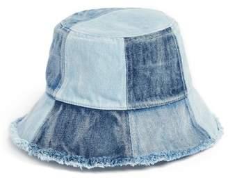 BCBGMAXAZRIA Patched Denim Bucket Hat