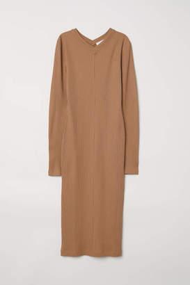 H&M Ribbed Dress - Black - Women