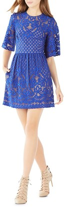 BCBGMAXAZRIA Jillyan Floral Lace Dress $338 thestylecure.com
