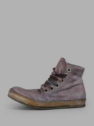 A Diciannoveventitre WOMENS PURPLE HIGH TOP SNEAKERS