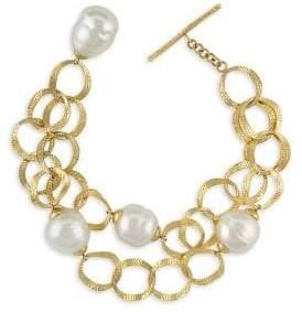 Majorica Baroque Pearl Openwork Chain Bracelet