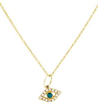 Sydney Evan 14K Turquoise & Diamond Evil Eye Pendant Necklace