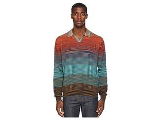 Missoni Ombre Long Sleeve Polo Sweater