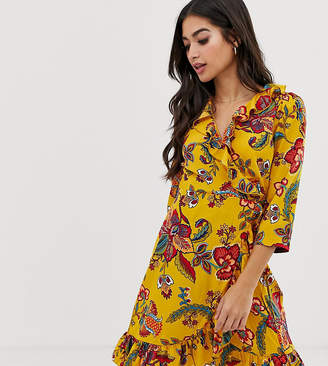 Vero Moda Petite Floral Wrap Dress