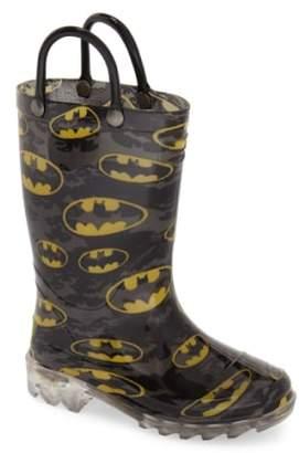 Western Chief 'Batman Signal' Light-Up Rain Boot