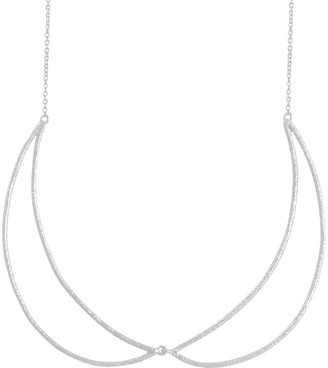 """Sterling Crescent 18"""" Necklace by Silver Style"""