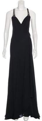 Plein Sud Jeans Silk Multi Strap Maxi Dress