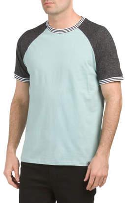 Short Sleeve Jersey Color Block Tee