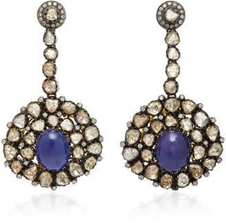 """Amrapali 14K Gold"""" Diamond"""" And Tanzanite Earrings"""
