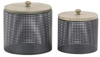 Williston Forge Modern Round 2 Piece Kitchen Canister Set with Lid
