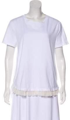 Thakoon Silk Ruffled T-Shirt
