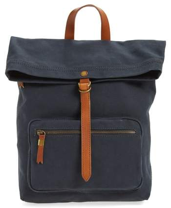 Madewell The Canvas Foldover Backpack - Black