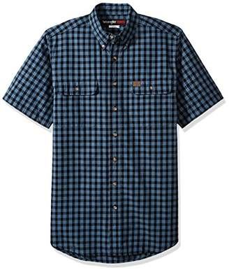 Wrangler Men's Tall Size Riggs Workwear Foreman Plaid Work Shirt