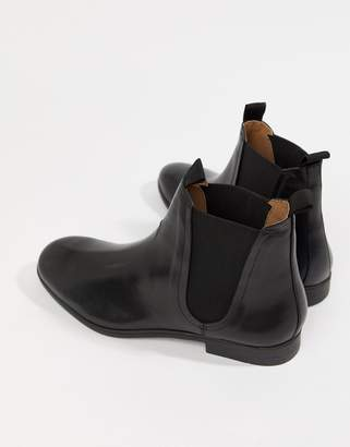 H By Hudson Atherston chelsea boots in black leather
