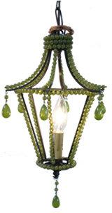 Petite Pagoda Lantern - Milk Olive
