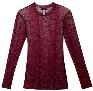 Cosabella Cosabella | Moulin Mesh Long Sleeve Top | Xl | Animal print