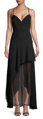 BCBGeneration Sleeveless Chiffon Maxi Dress