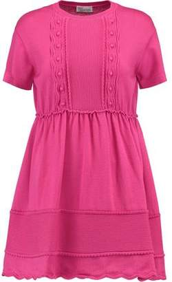 RED Valentino Ruffled Wool Mini Dress