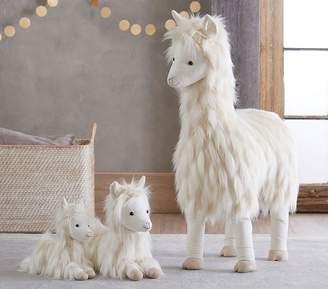Pottery Barn Kids Small Faux-Fur Plush - Llama