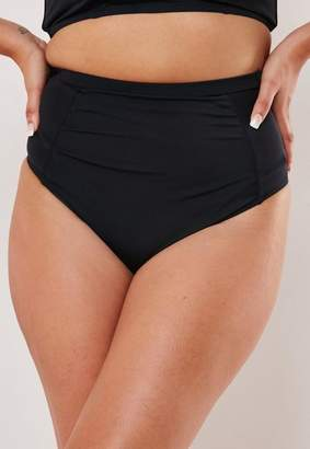 Missguided Plus Size Black High Waisted Bikini Bottoms