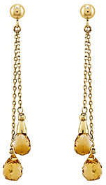 QVC 14K Gold Briolette Gemstone Dangle Earrings
