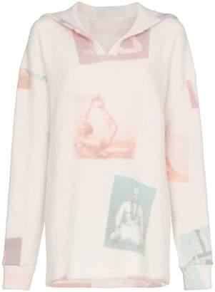 The Elder Statesman Technicolour Yogis print cashmere blend hoodie