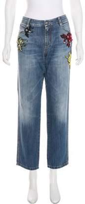 Ermanno Scervino Embellished Mid-Rise Jeans