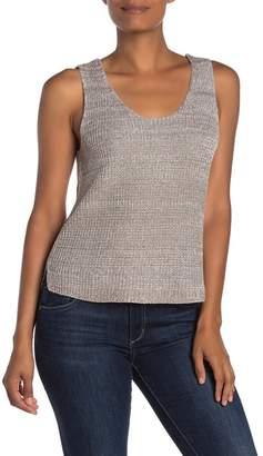 Susina Marled Sweater Tank Top