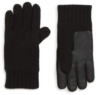 UGG Leather Palm Knit Gloves