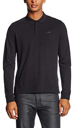 Armani Jeans Men's Solid Long Sleeve Polo Shirt
