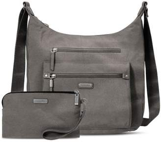 Baggallini Classic Day Trip Hobo Bag with RFID Phone Wristlet