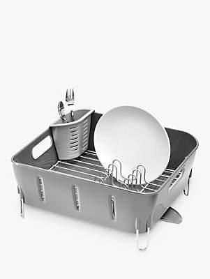 Simplehuman Compact Dish Drainer, Grey
