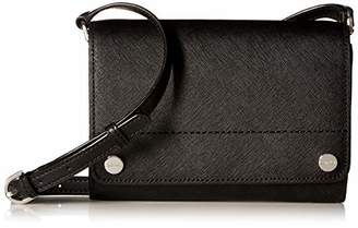 Calvin Klein Saffiano Leather Flap Over Small Crossbody