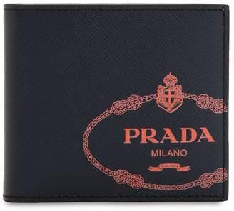 Prada Savoia Saffiano Leather Classic Wallet