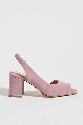 Faryl Robin Open-Toe Slingback Heels