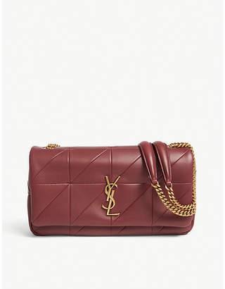 Saint Laurent Ladies Red Elegant Jamie Monogram Leather Shoulder Bag