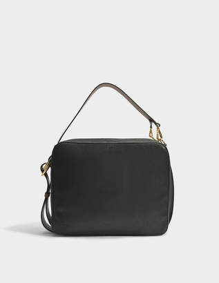 Marni Shoulder Bag in Black and Marroon Calfskin