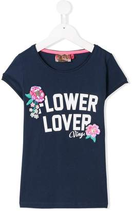 Vingino flower appliqué T-shirt