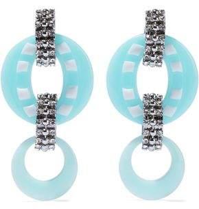 Dannijo Armie Silver-Tone Crystal And Resin Earrings