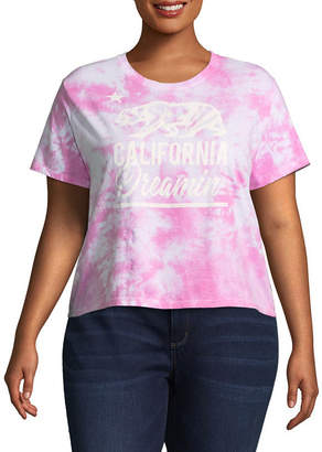 Freeze California Cropped Tee - Juniors Plu